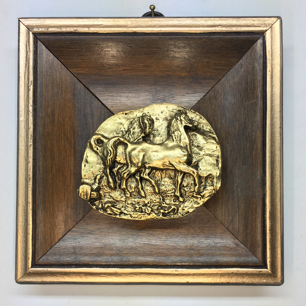 Wooden Frame with Horses (5.25