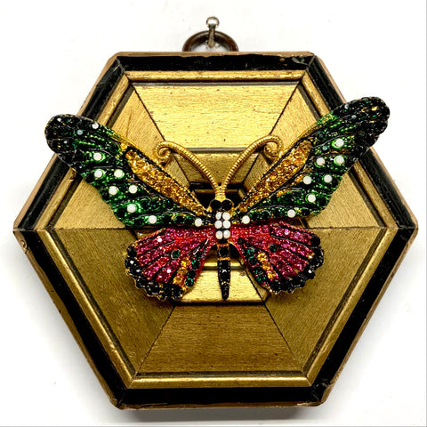 Lacquered Frame with Sparkle Butterfly (4