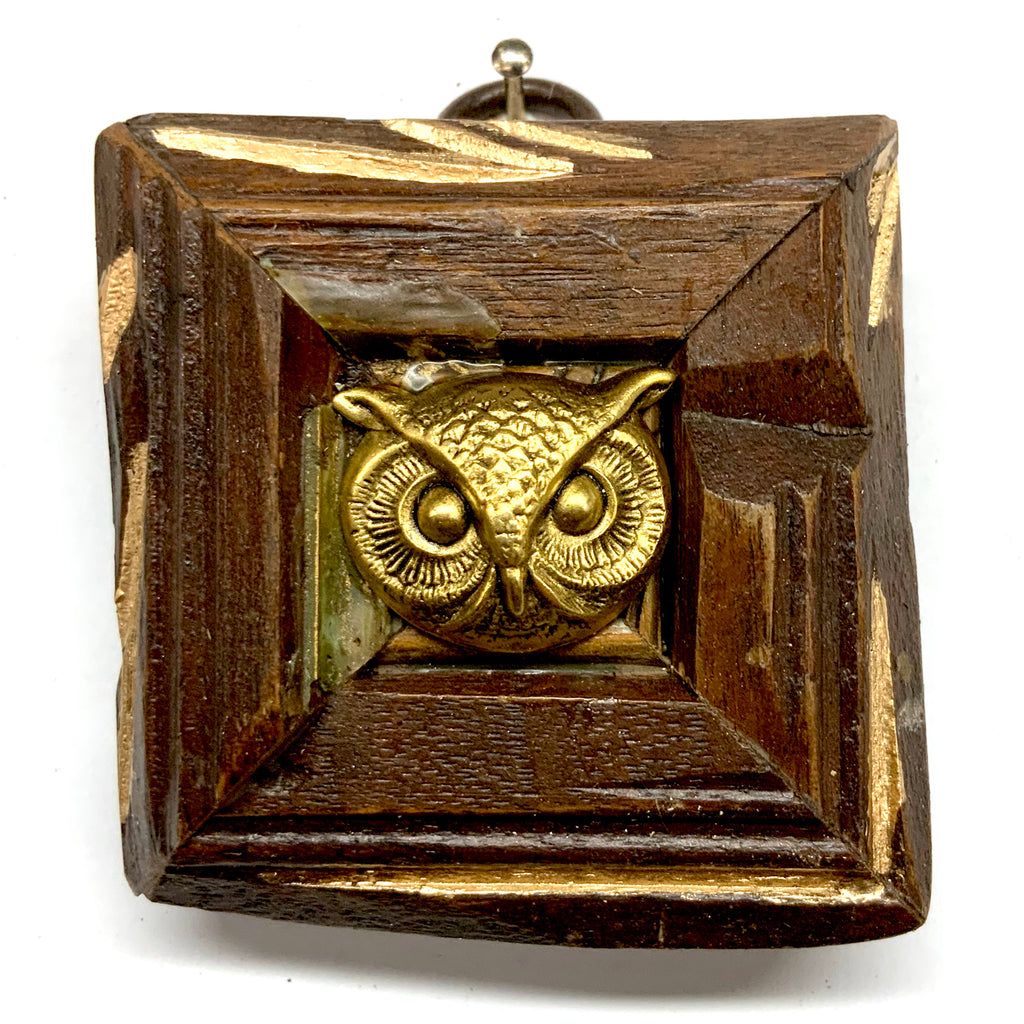 Wooden Frame with Owl (2.5