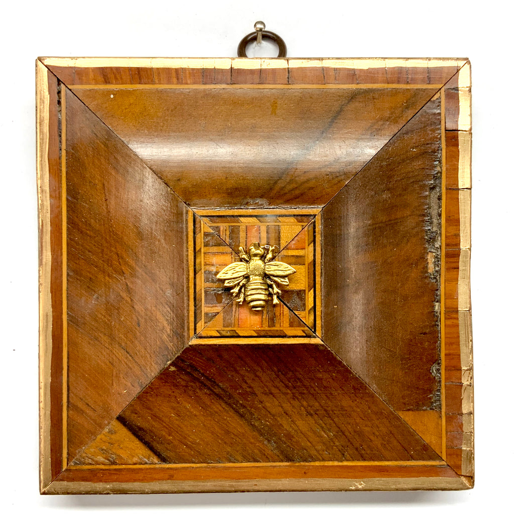 Wooden Frame with Napoleonic Bee (4.75