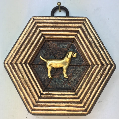 Dark Gilt Frame with Golden Retriever (3