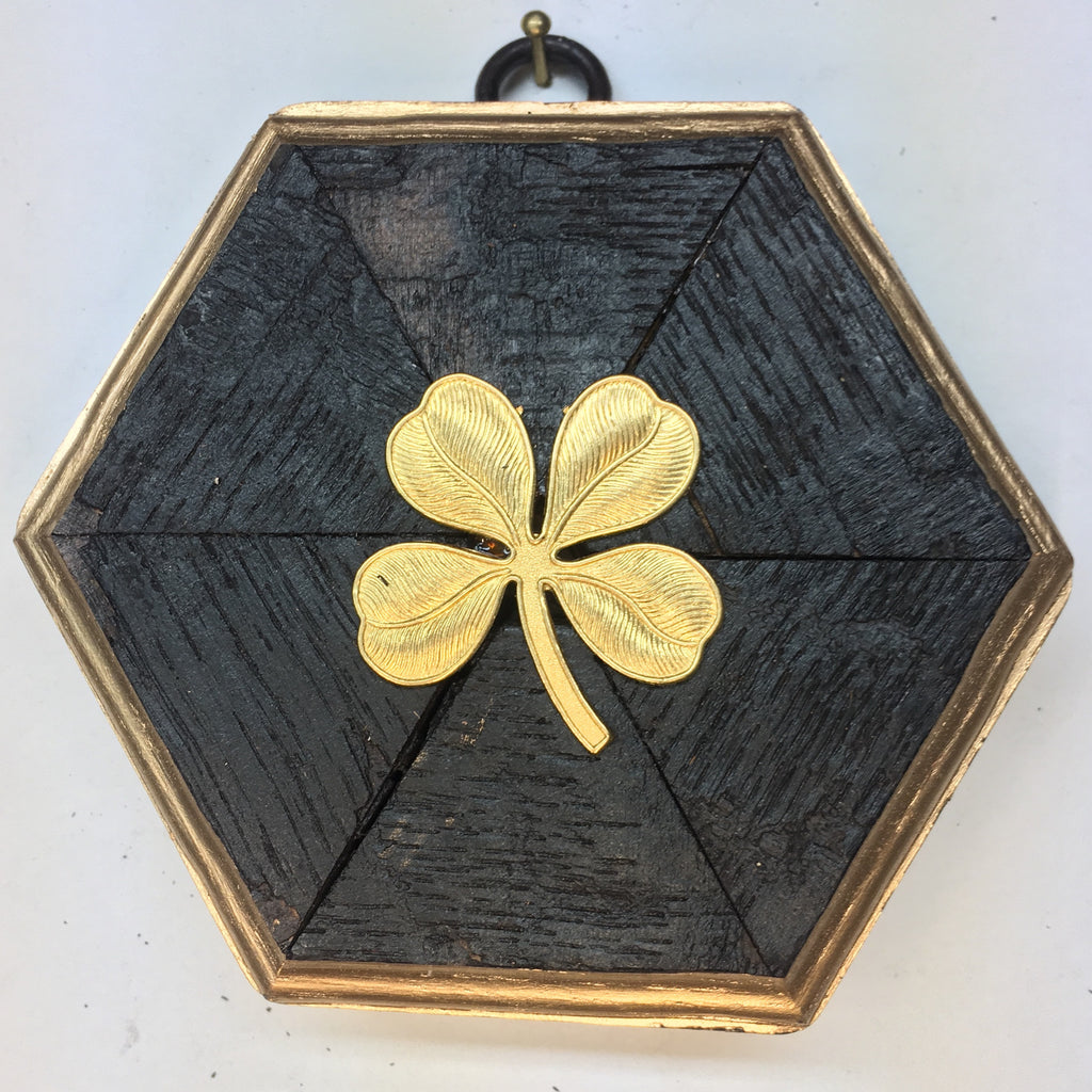 Bourbon Barrel Frame with Four Leaf Clover (4