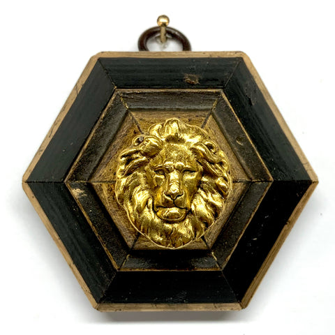 Lacquered Frame with Lion (3