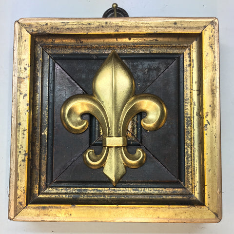 Dark Gilt Frame with Fleur De Lis (4