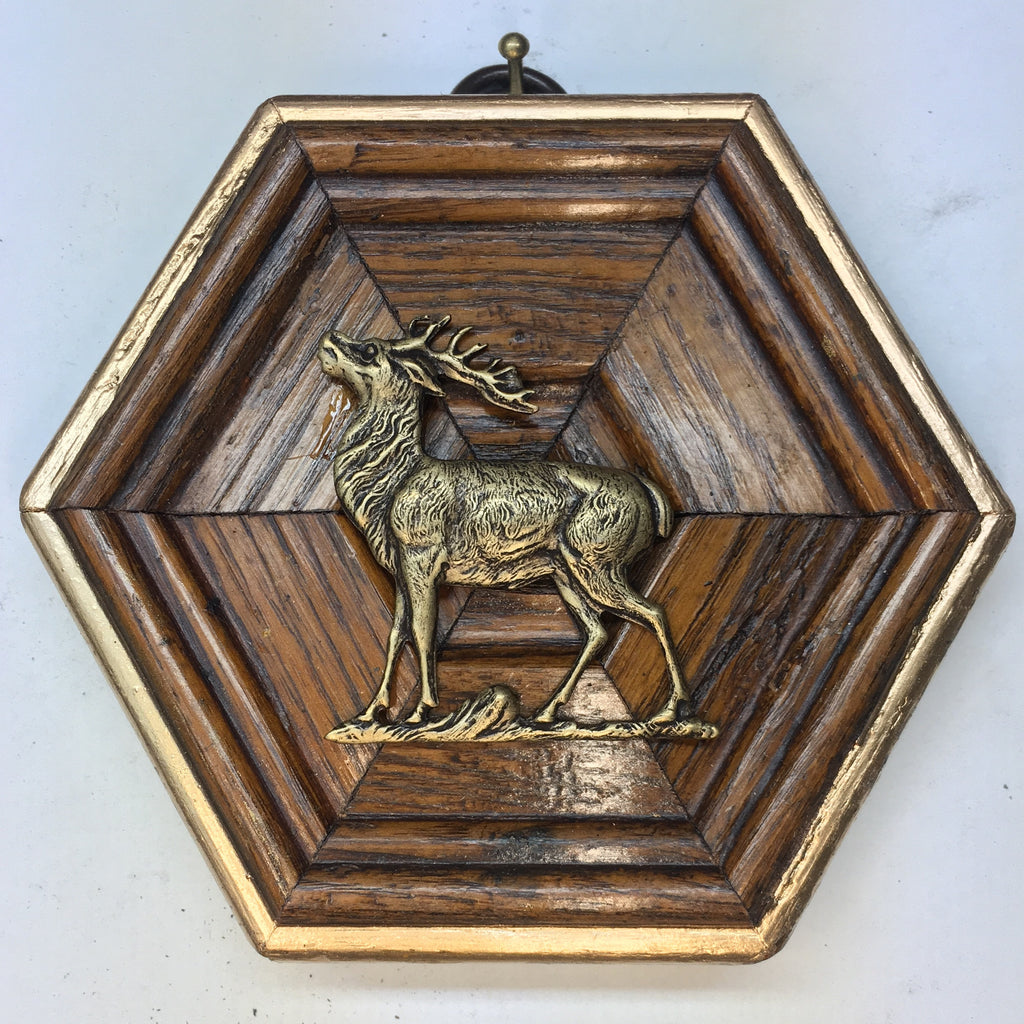 Wooden Frame with Stag (3.75