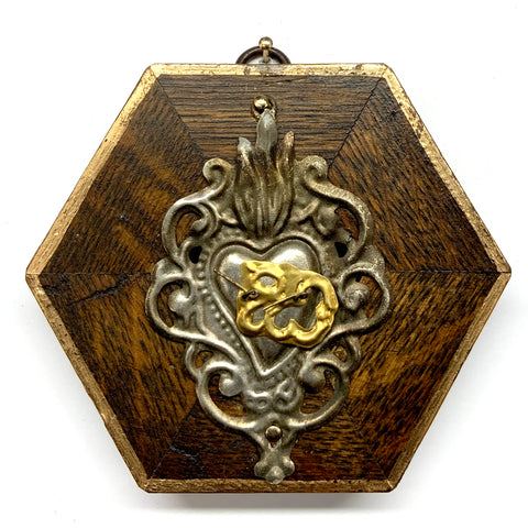 Wooden Frame with Sacred Heart (4.25