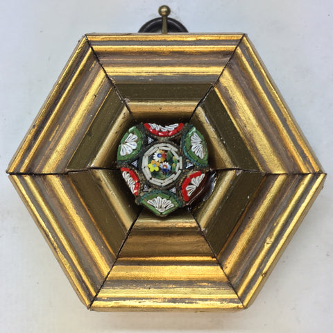 Gilt Frame with Micro Mosaic Button (3