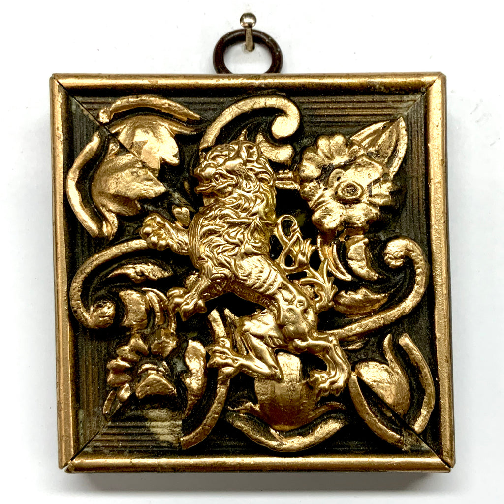 Gilt Frame with English Lion (3