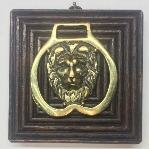 Wooden Frame with Horse Brass (4.5