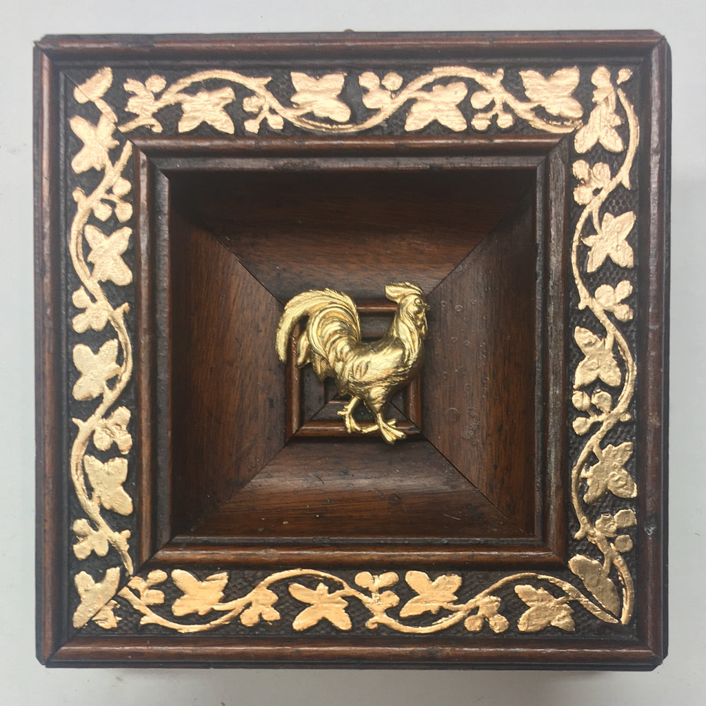 Gilt Wooden Frame with Rooster (4.5