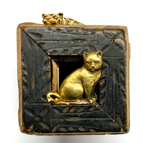 Lacquered Frame with Cat and Leopard (2