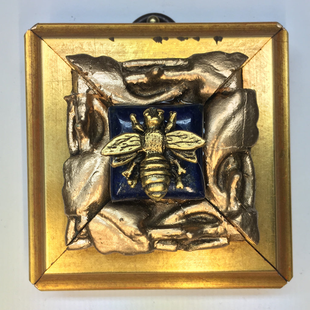 Gilt Frame with Napoleonic Bee on Lapis (2.5