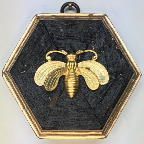 Bourbon Barrel Frame with Bee (3.75