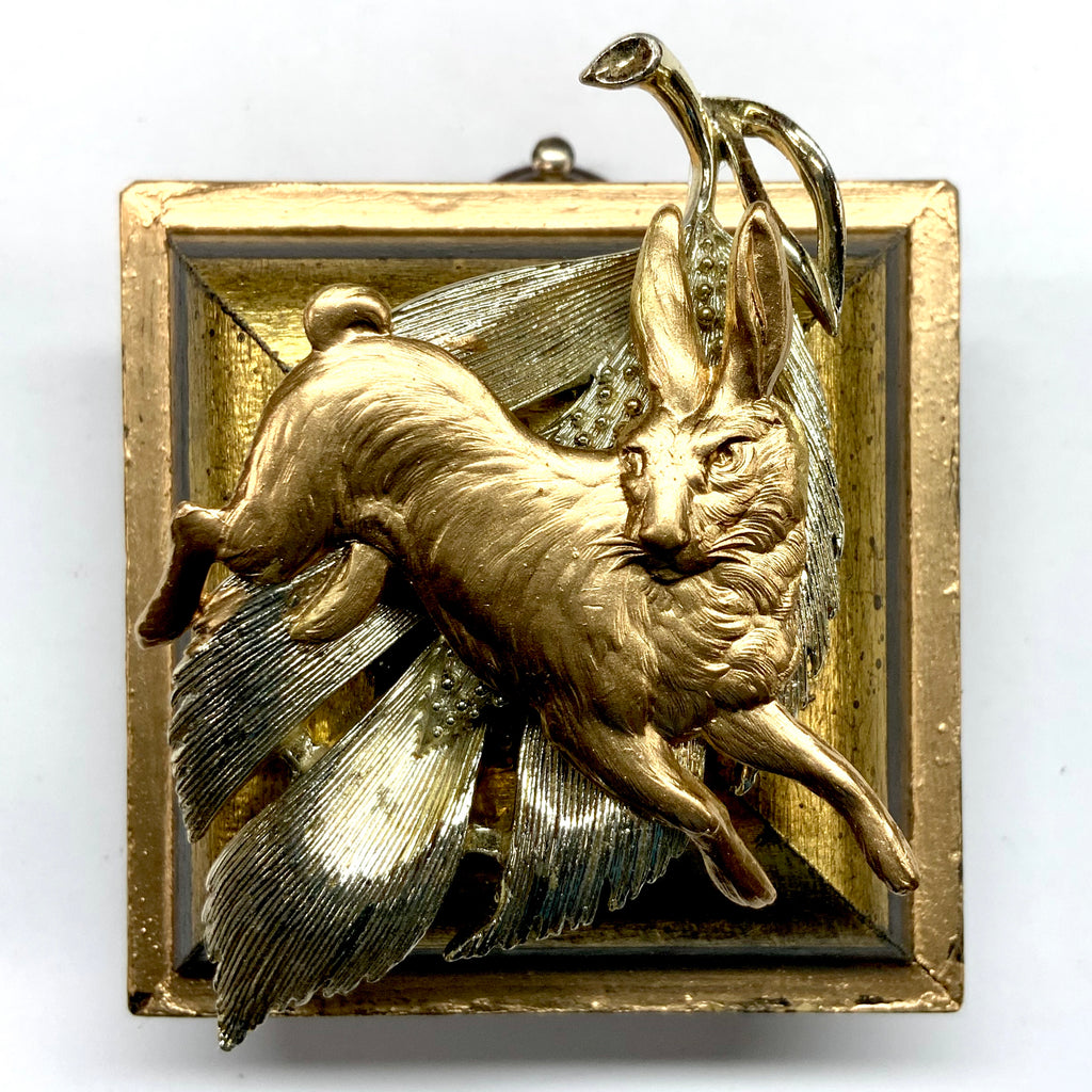 Lacquered Frame with Hare on Brooch (2.25