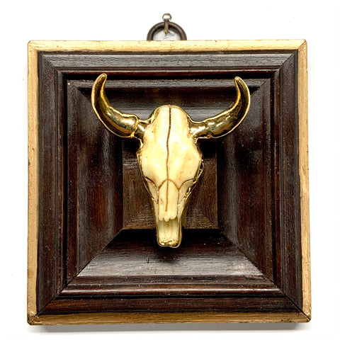 Wooden Frame with Cow Skull (4