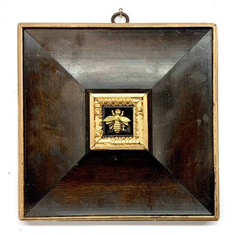 Wooden Frame with Napoleonic Bee (6.25