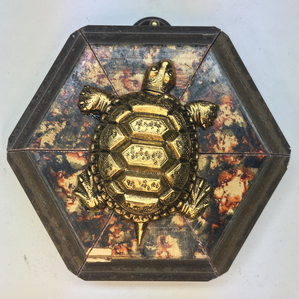 Marbled Frame with Turtle (3.25