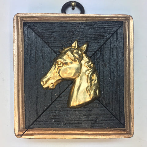 Bourbon Barrel Frame with Horse (2.25
