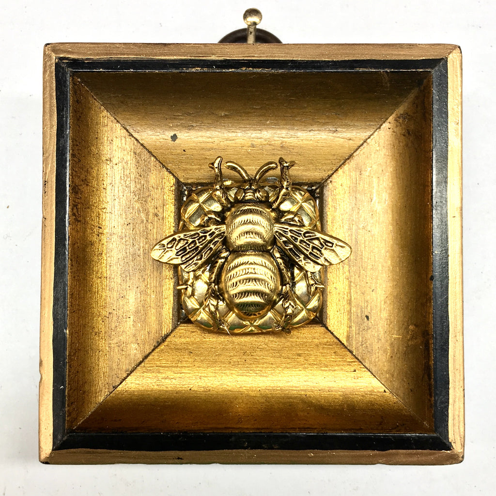 Gilt Frame with Grande Bee on Brooch (2.6