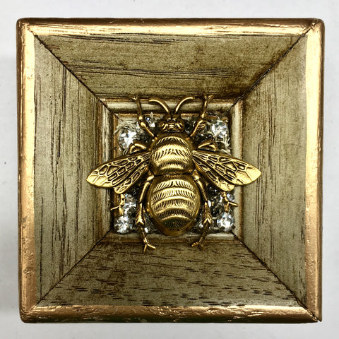 Painted Frame with Grande Bee on Brooch (2.75