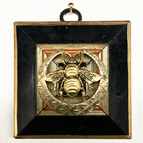 Lacquered Frame with Grande Bee on Brooch (2.9