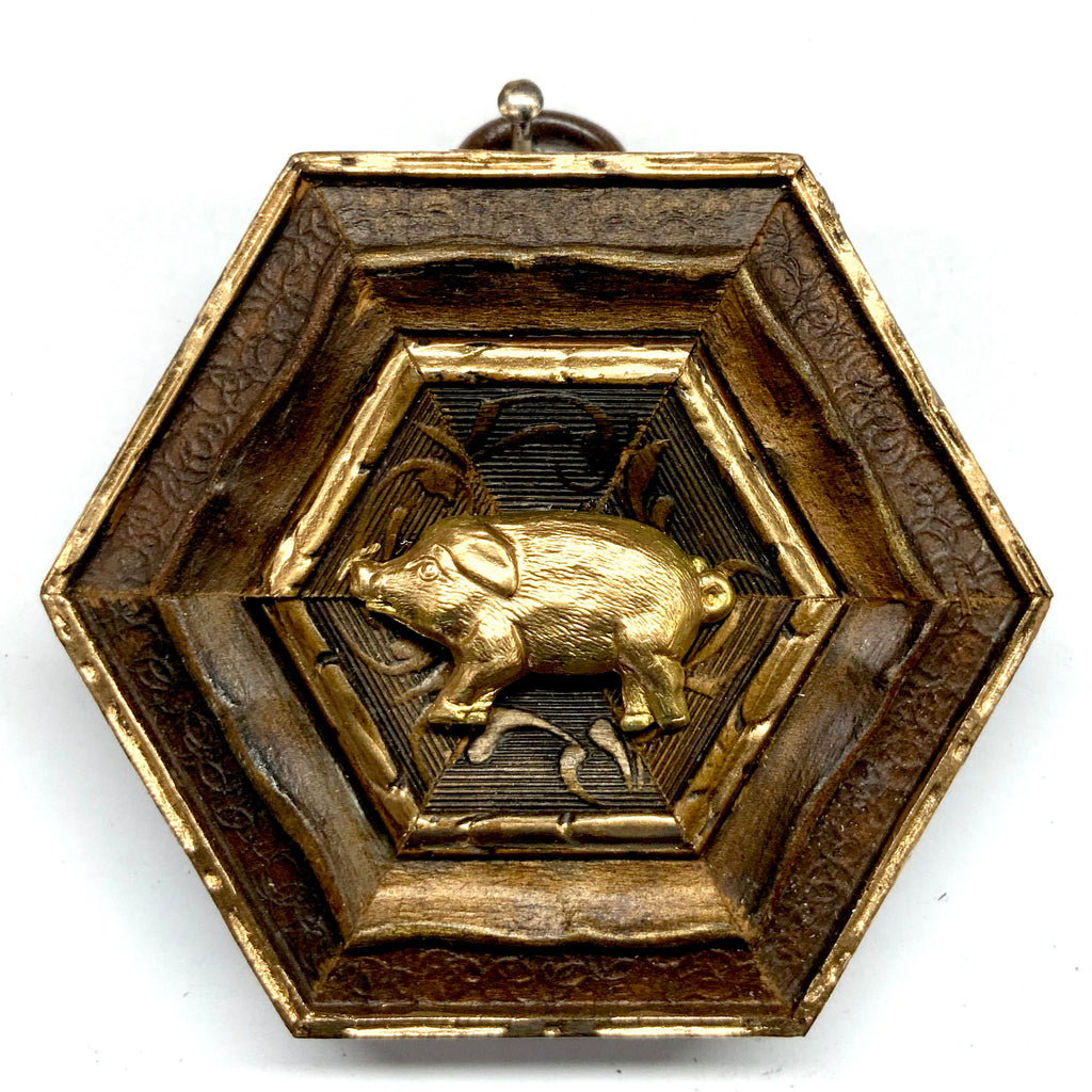 Painted Frame with Piggy (2.75