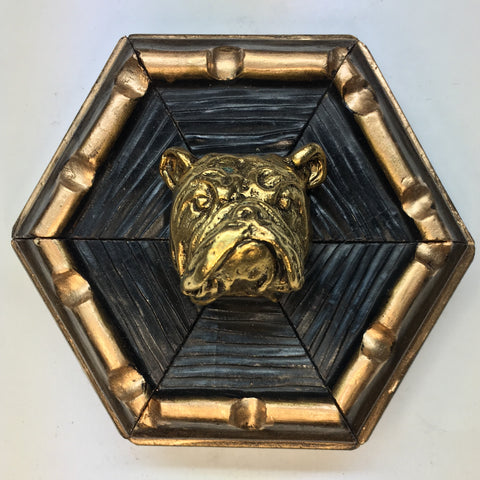 Dark Gilt Frame with Bulldog (3.75