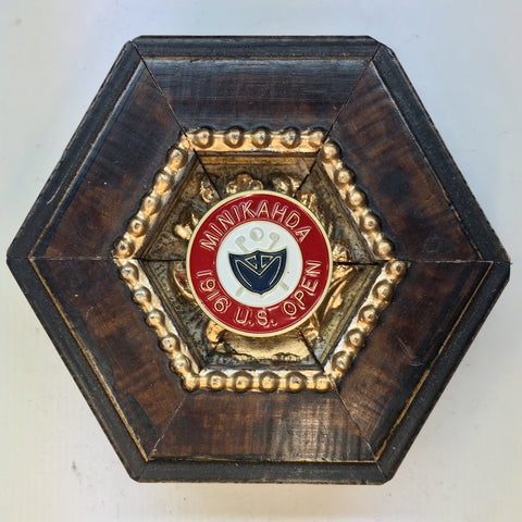 Burled Frame with Minikahda US Open Ball Marker (3.5