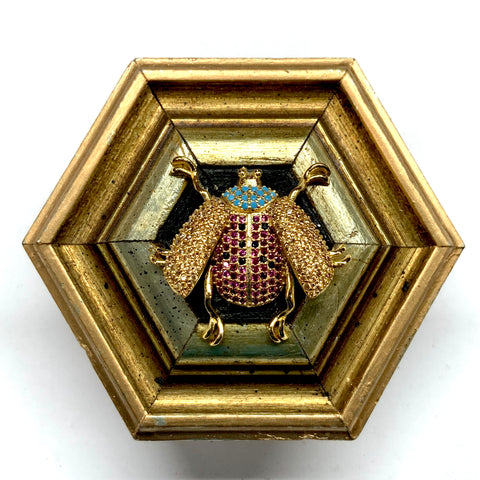 Gilt Frame with Sparkle Ladybug (3