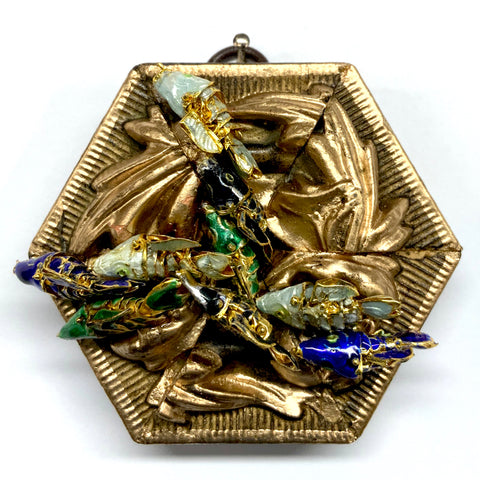 Gilt Frame with Koi (3.25