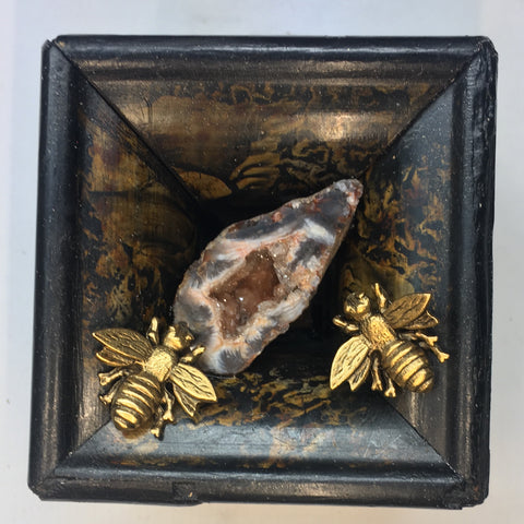 Marbled Frame with Napoleonic Bees around Stone (2.75