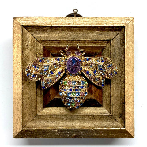 Gilt Frame with Bee Brooch (3
