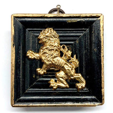 Lacquered Frame with English Lion (2.5
