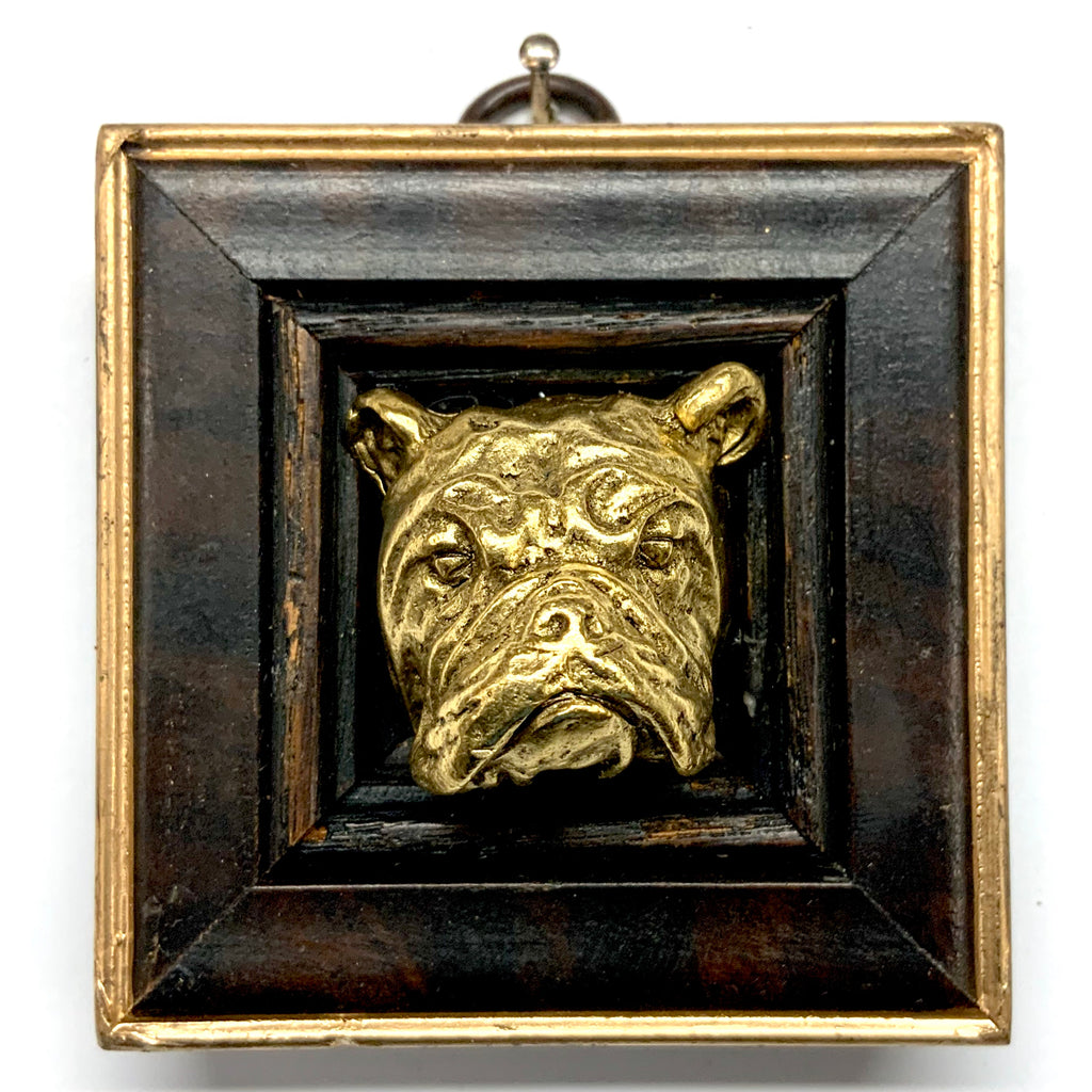 Wooden Frame with Bulldog (2.75