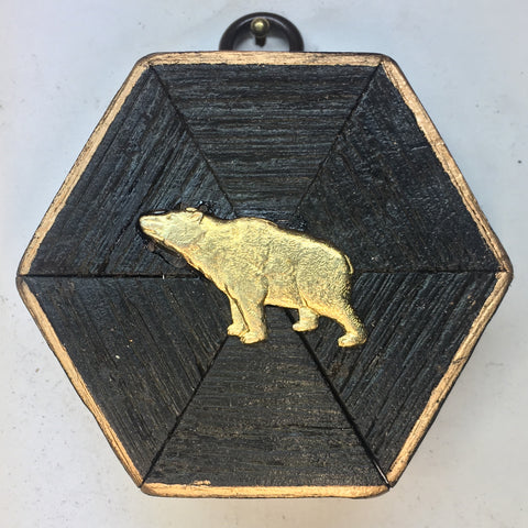 Bourbon Barrel Frame with Bear (3.25