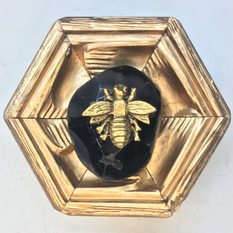 Gilt Frame with Napoleonic Bee on Stone (3