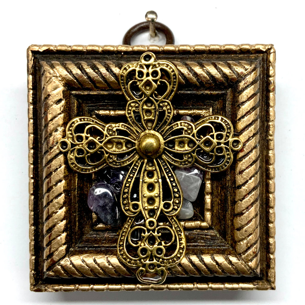 Gilt Frame with Cross on Stones (2.5