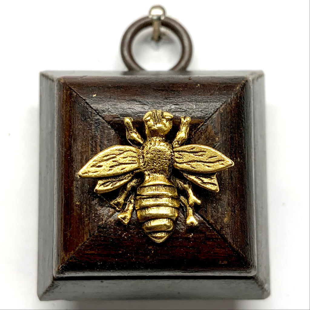 Wooden Frame with Napoleonic Bee (1.75