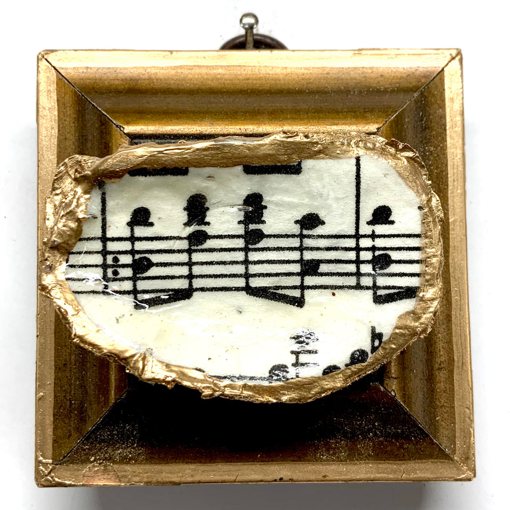 Gilt Frame with Sheet Music Oyster Shell (2.75