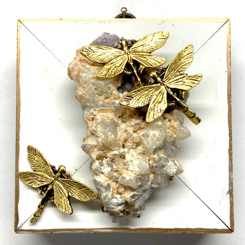Lacquered Frame with Dragonflies on Semi-Precious Stone (4