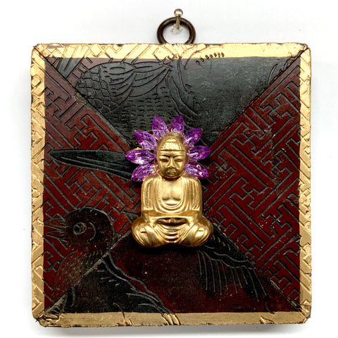 Coromandel Frame with Buddha on Brooch (4