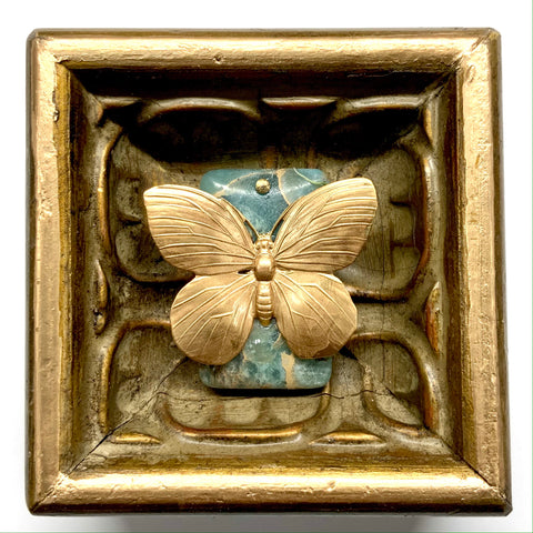 Gilt Frame with Butterfly on Stone (3.75
