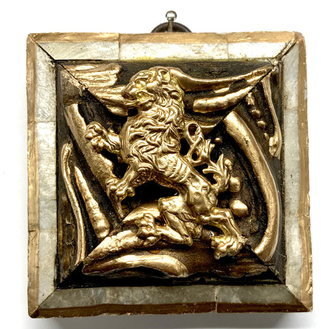 Mother of Pearl Frame with English Lion (3