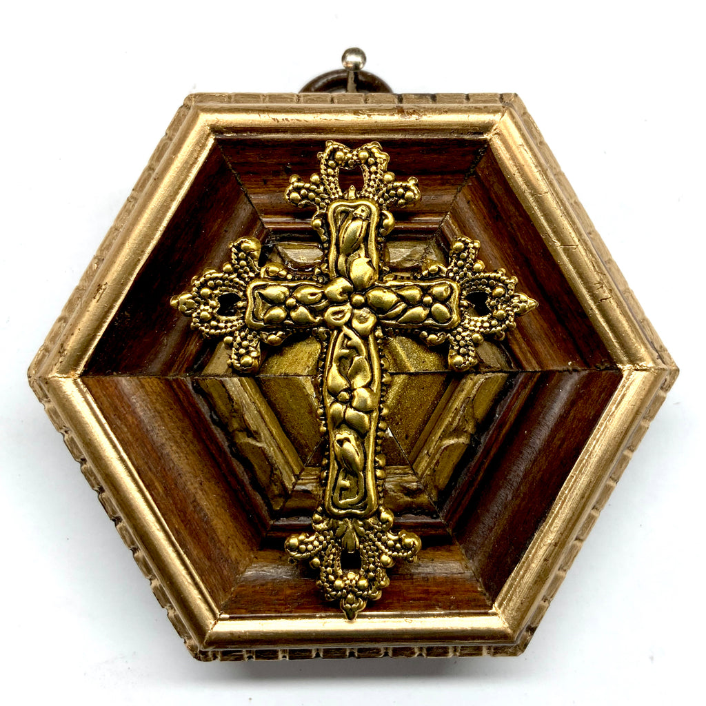 Wooden Frame with Cross (3.25