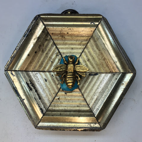 Copy of Gilt Frame with Napoleonic Bee on Turquoise Fragment (3