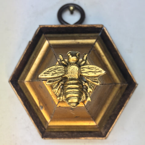 Gilt Frame with Napoleonic Bee on Chanel Style Pearl (2.5