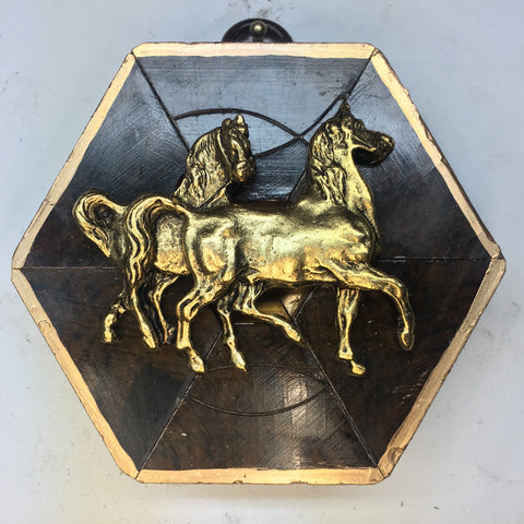 Burled Frame with Horses (3.25