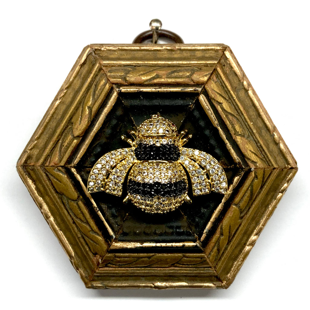 Gilt Frame with Sparkle Bee (2.75