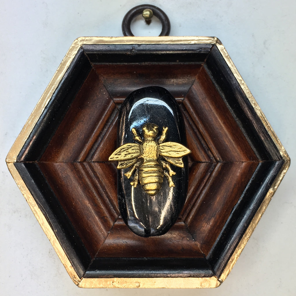 Wooden Frame with Napoleonic Bee on Onyx (3