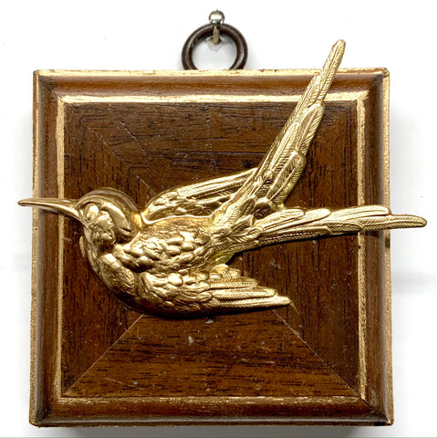 Wooden Frame with Swallow (2.75